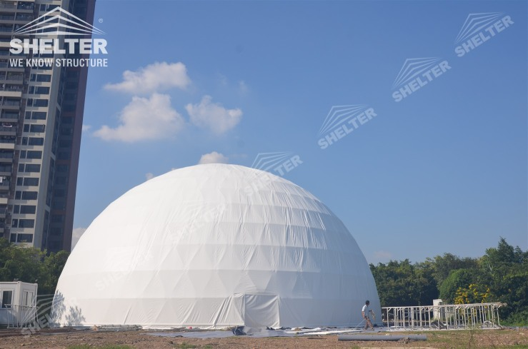 30m dome in 15m top height