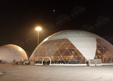 40m diameter Dome tent in 15m top height